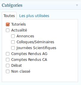 Choisissez une categorie pour votre article